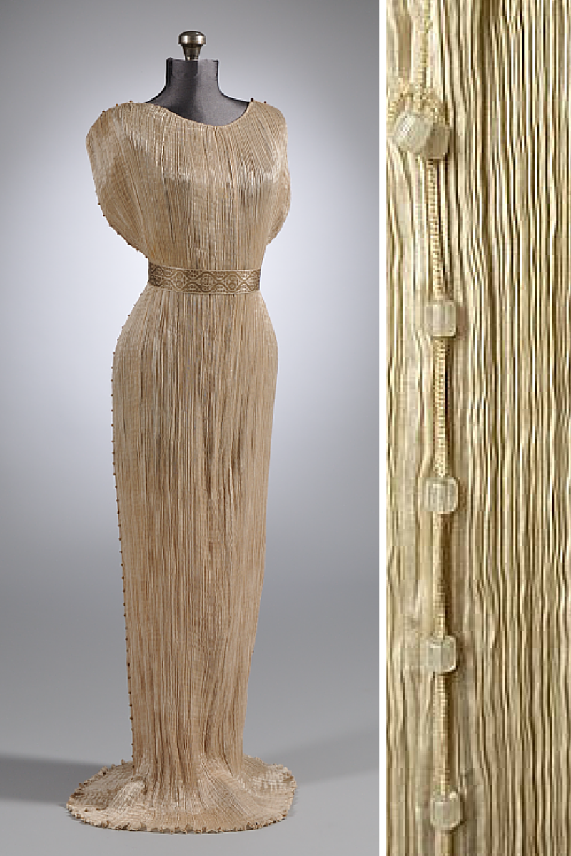 Mariano Fortuny And His Dress Delphos In Pleated Textile