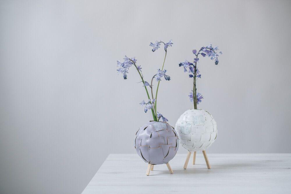 floral design - pianetini di finta pelle