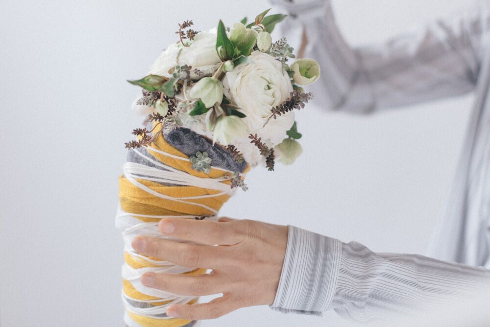 floral design - cornucopia di feltro