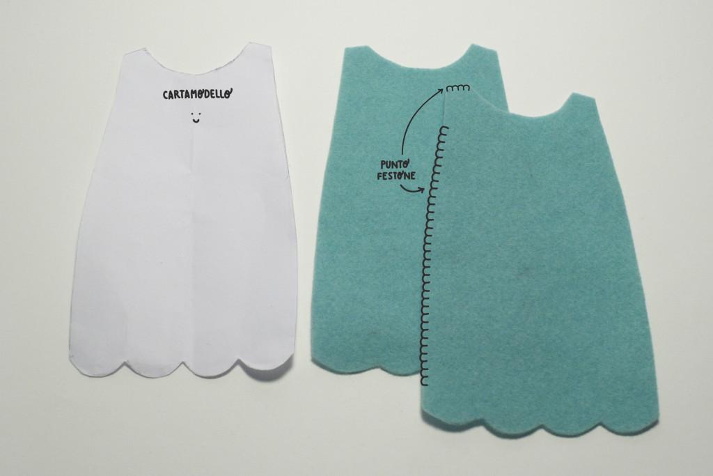 clothes tutorial - camilla doll blanket stitch dress