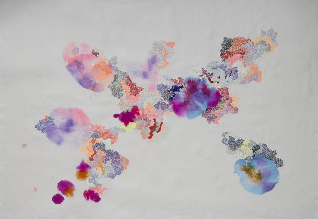 sabatina leccia - painting embroidery