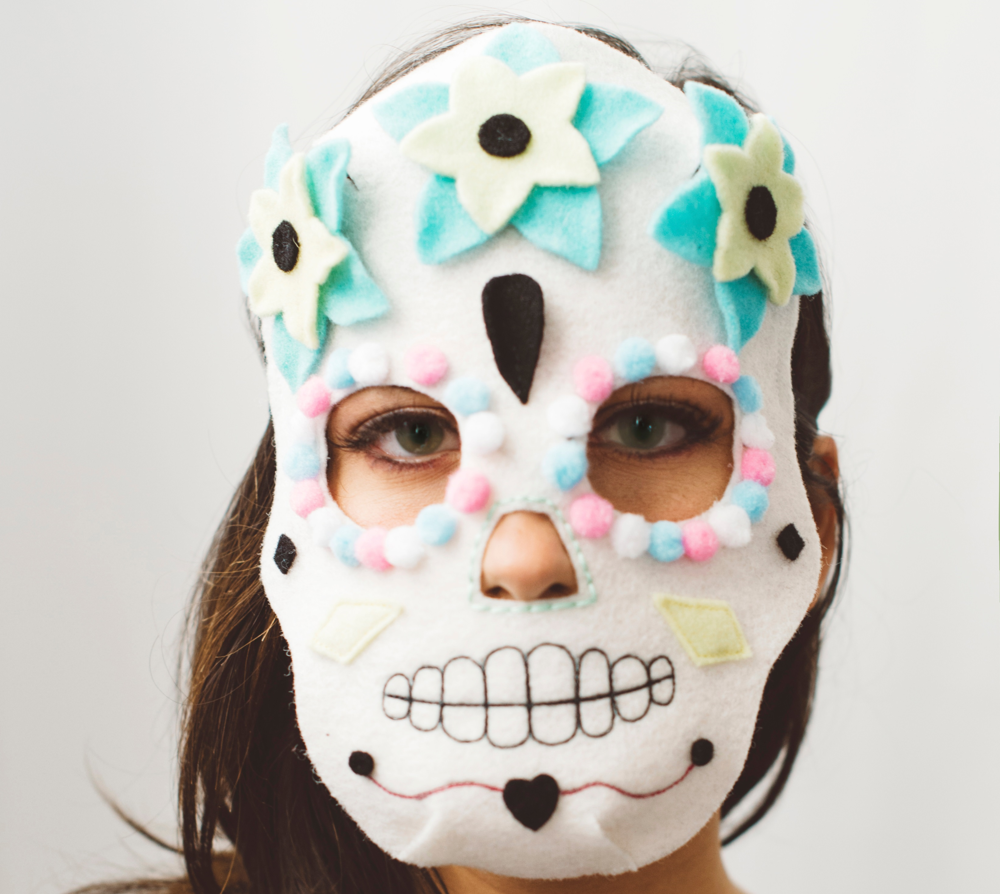 Mexican Skull mask for Halloween