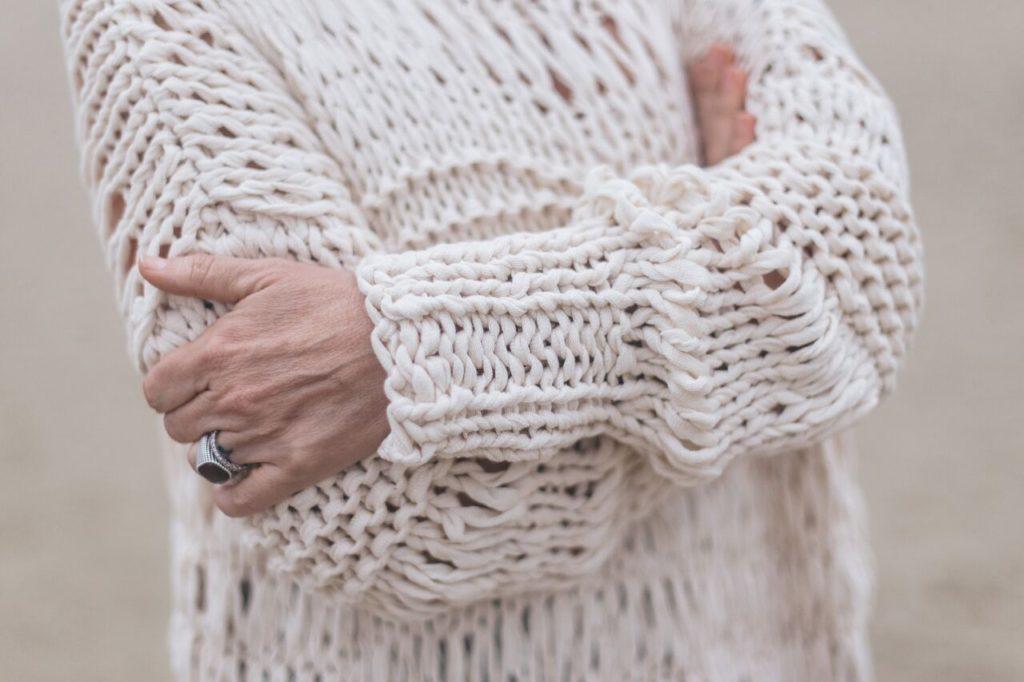 Tutorial: pull in fettuccia di cotone con il punto sfilato - Filato Stromboli