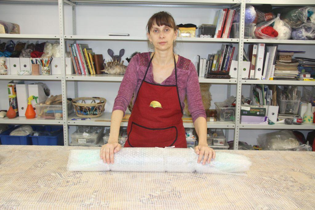 nina demidova - how to felt viscose nad merino wool