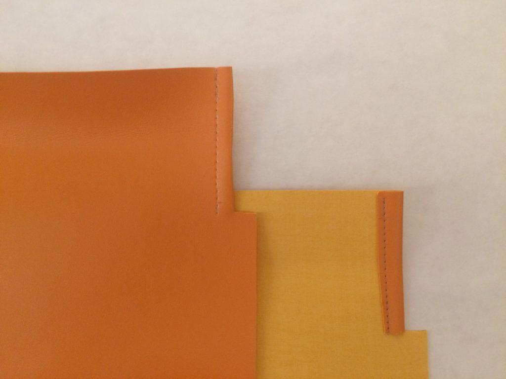 Tutorial: faux leather yarn storage
