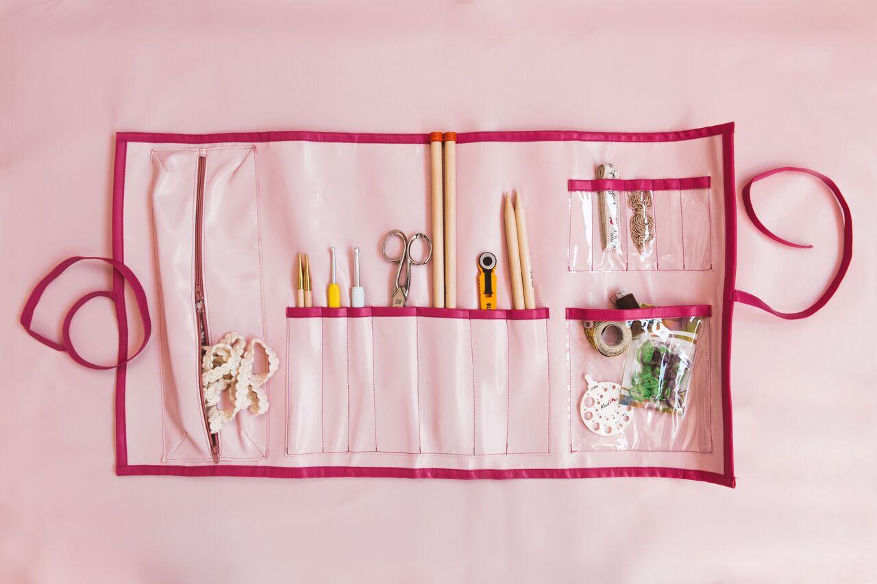 porta accessori per lavori a maglia