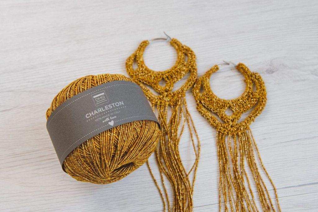 Charleston - filato cotone e lamè - orecchini