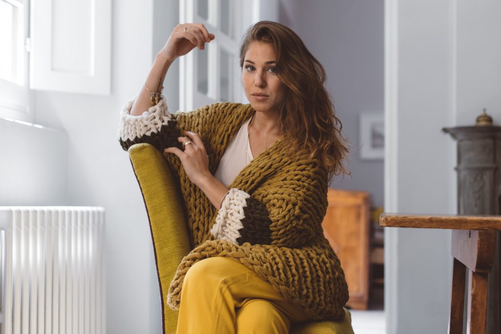 How to make a chunky knit cardigan
