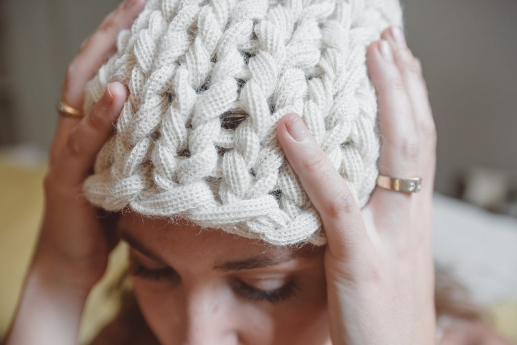 Hat tutorial giant knitting