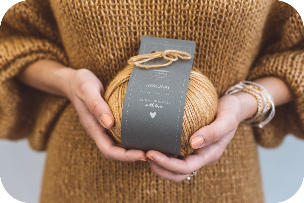 hokusai - alpaca wool and viscose yarn