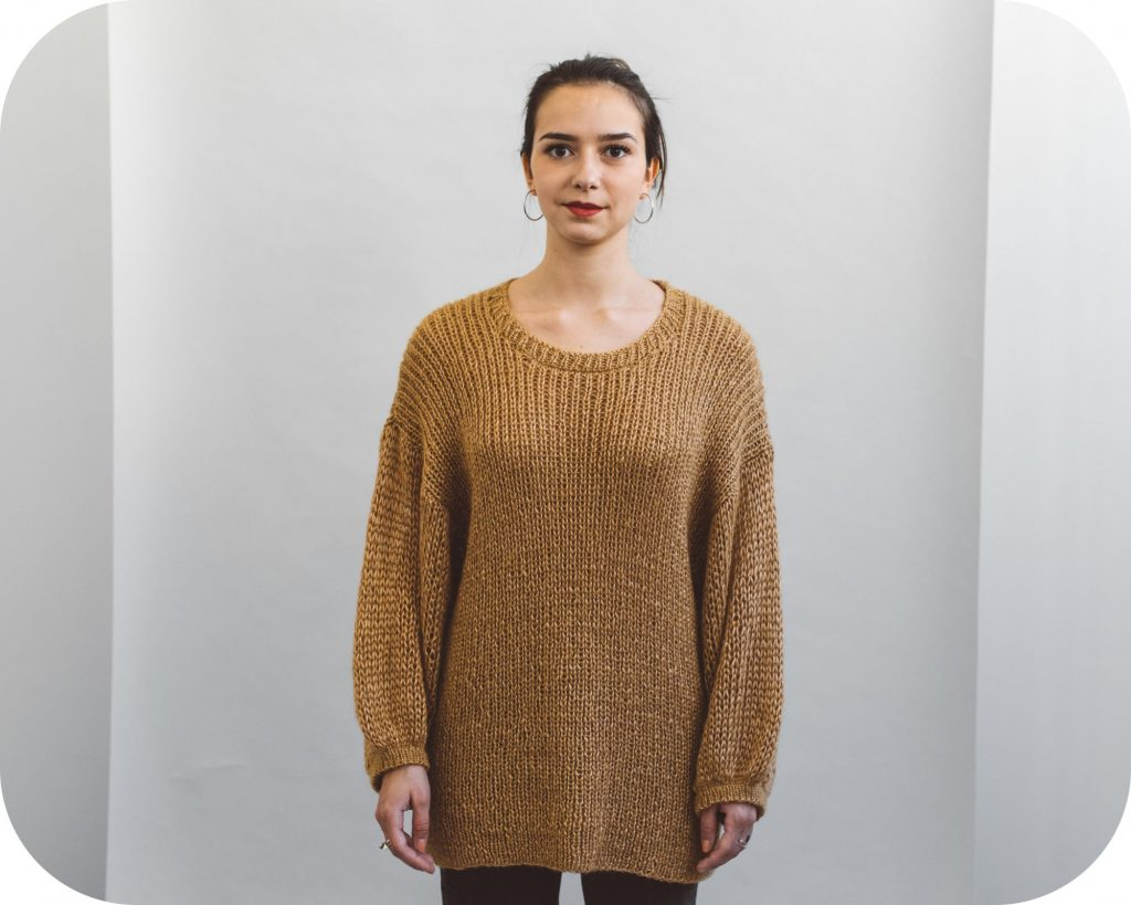 tutorial on a puff sleeve sweater