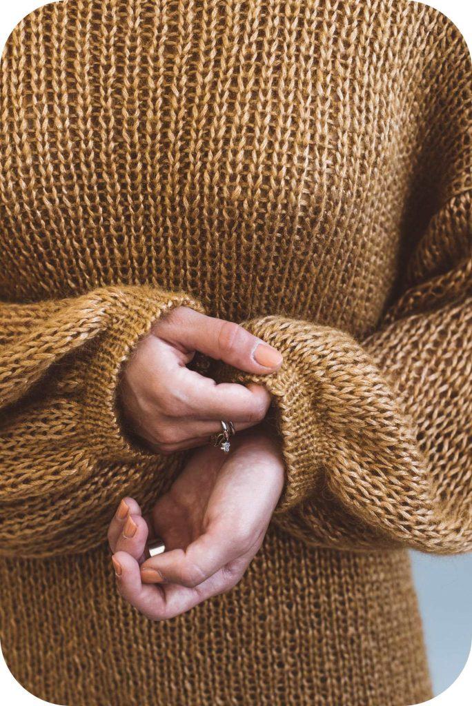 hokusai - alpaca wool and viscose yarn - sweater pattern