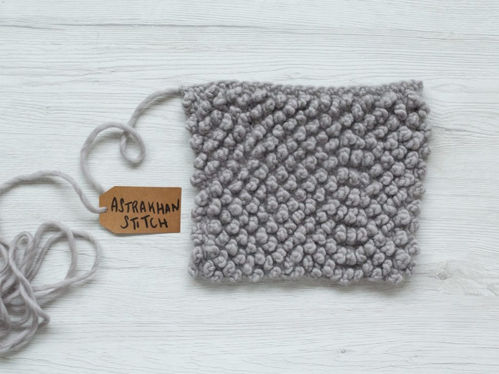 How to crochet the astrakhan stitch