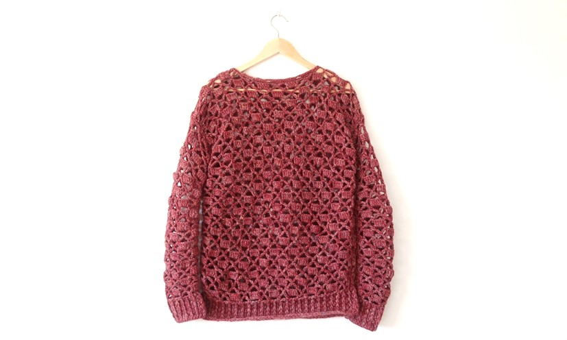 Tutorial How To Make A Crochet Openwork Sweater Dhg