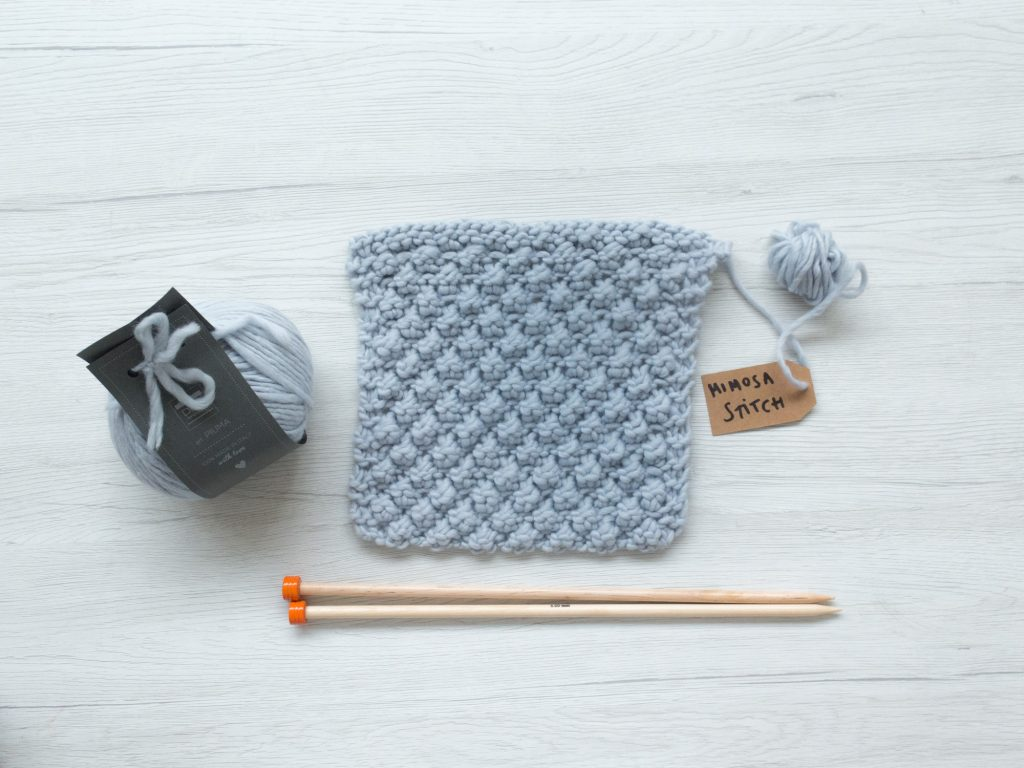 Tutorial - Knitted Mimosa stitch