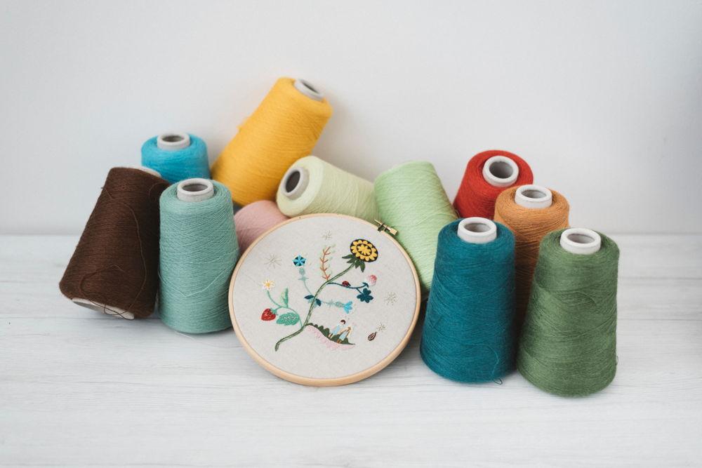 siwooinparis вышивает hoop art из пряжи из шерсти quipa
