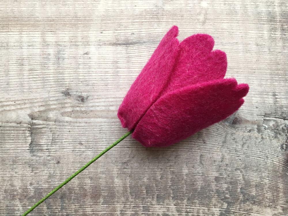 tulipano in feltro - pattern