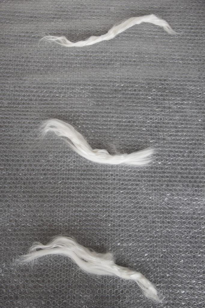 fibre di seta e ramie - tecnica del nuno feltro