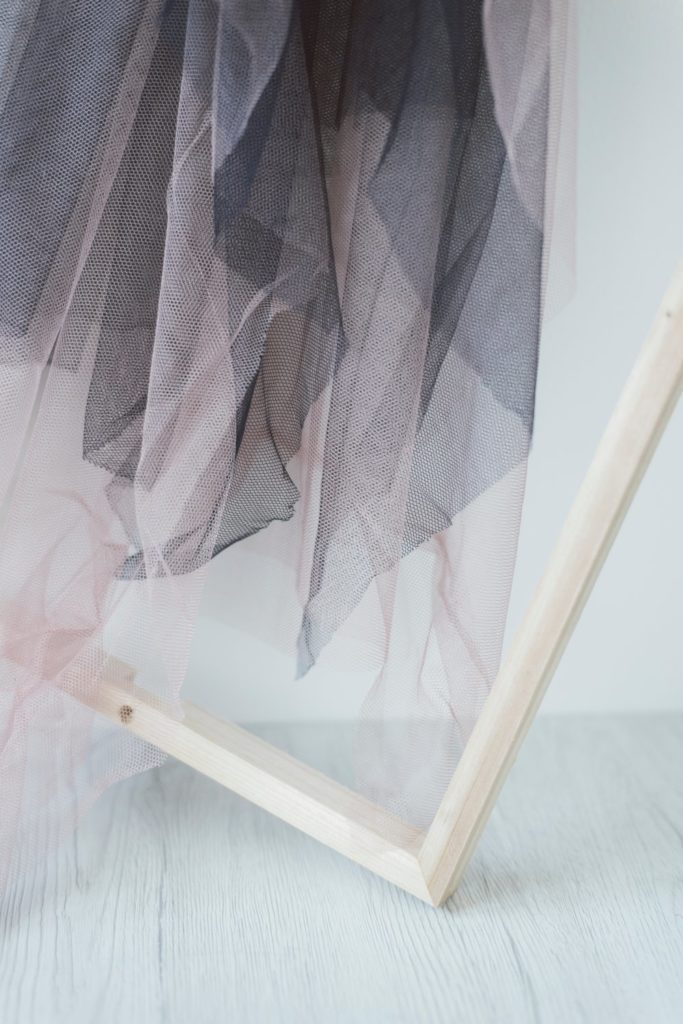 Pure silk tulle