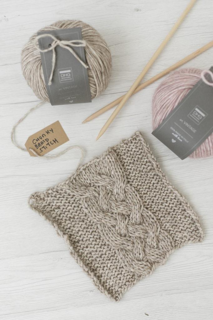 Chunky braid stitch pattern