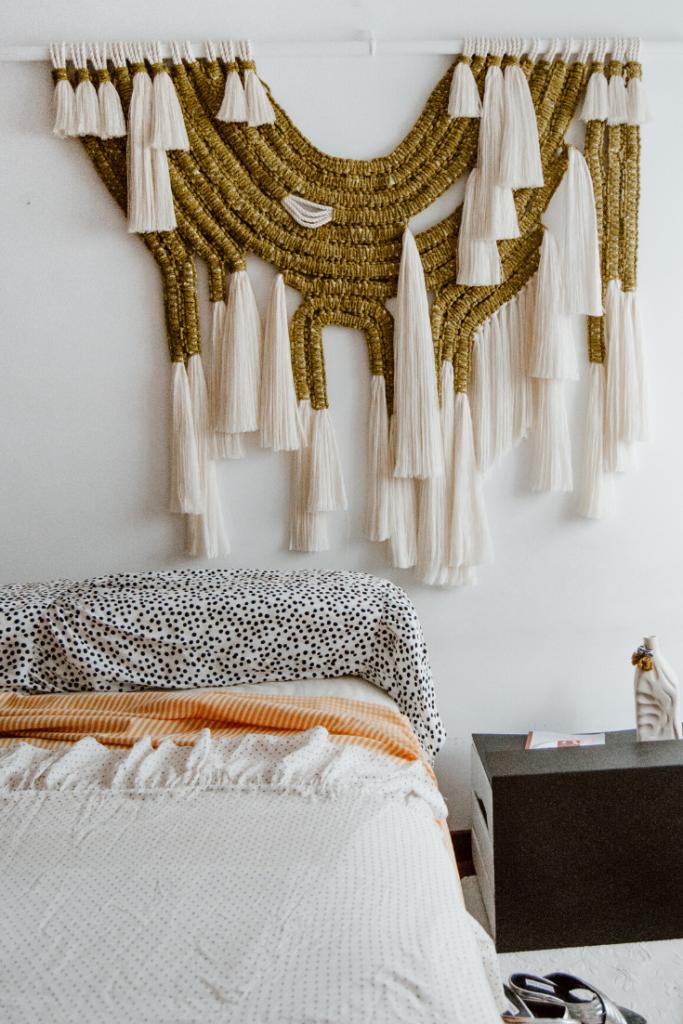 Belen Senra and macramé wall hangings