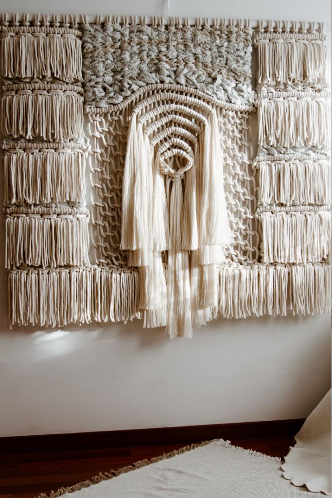 Belen Senra Spanish textile designer  - wool wall hangings