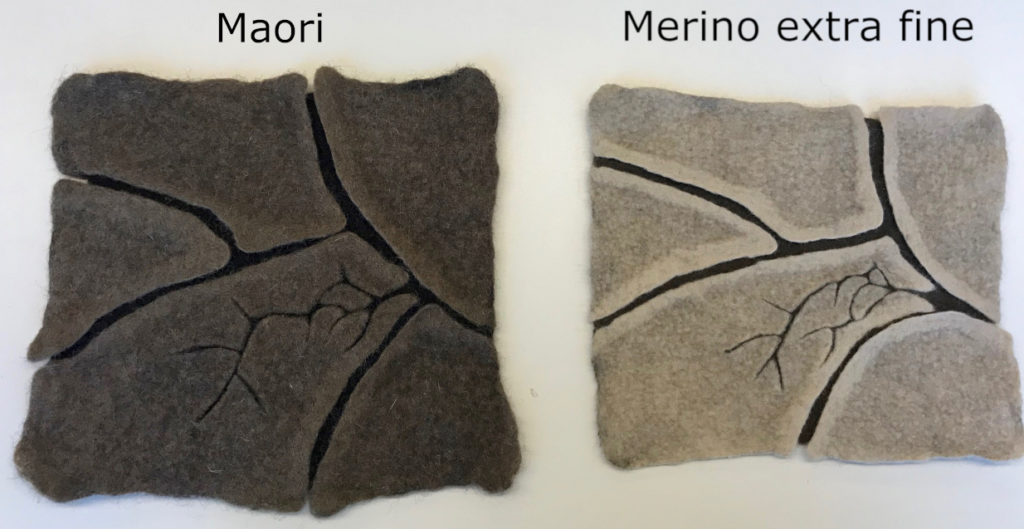 Shrinkage of carded wool
