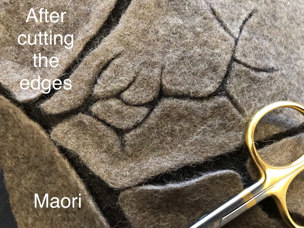 Carded maori wool - natural fibres
