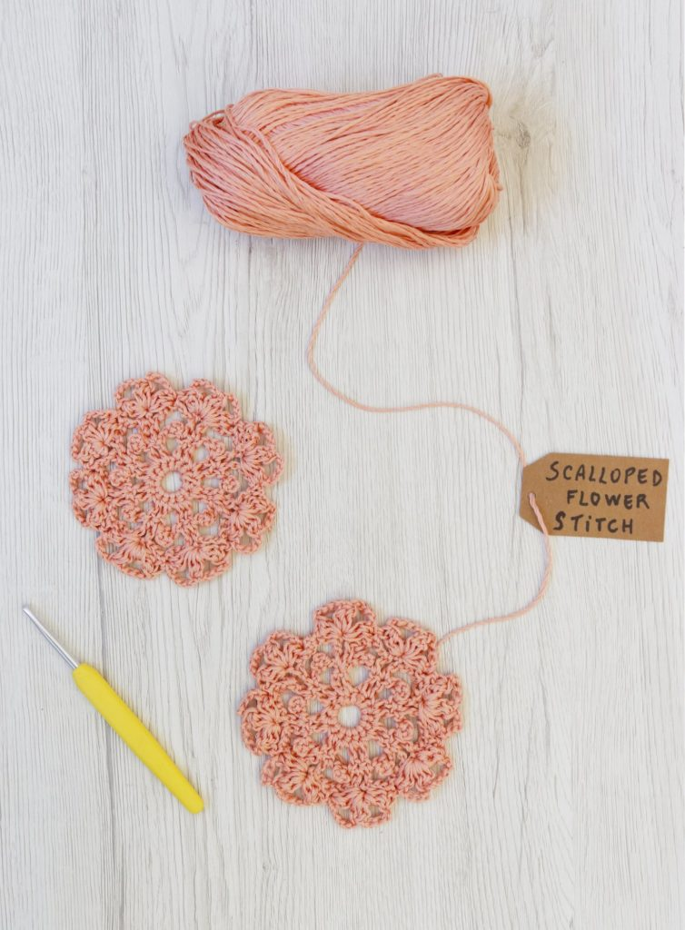 scalloped flower stitch