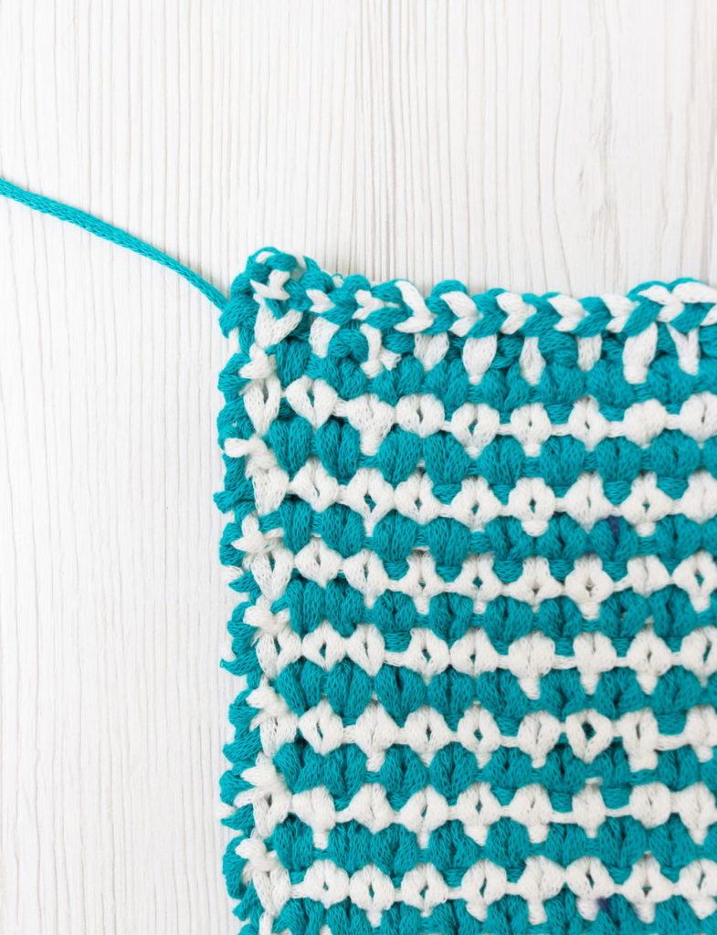 granite knit stitch. pure cotton tape