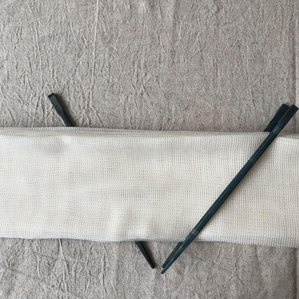 shibori pattern with wool gauze