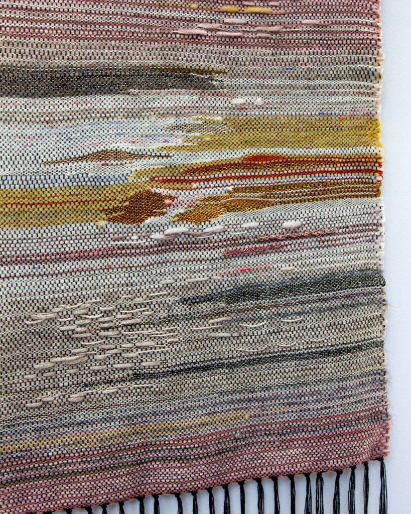 Pannelli tessuti con metodo Saori