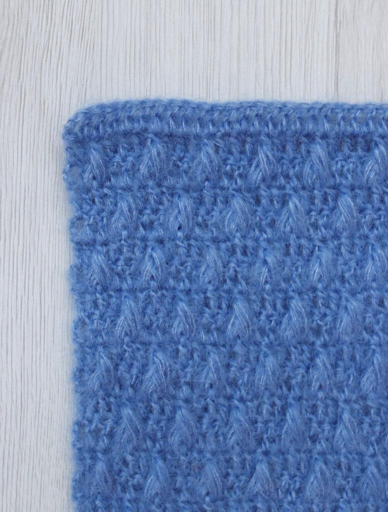 shuttle stitch tutorial - mohair and silk yarn