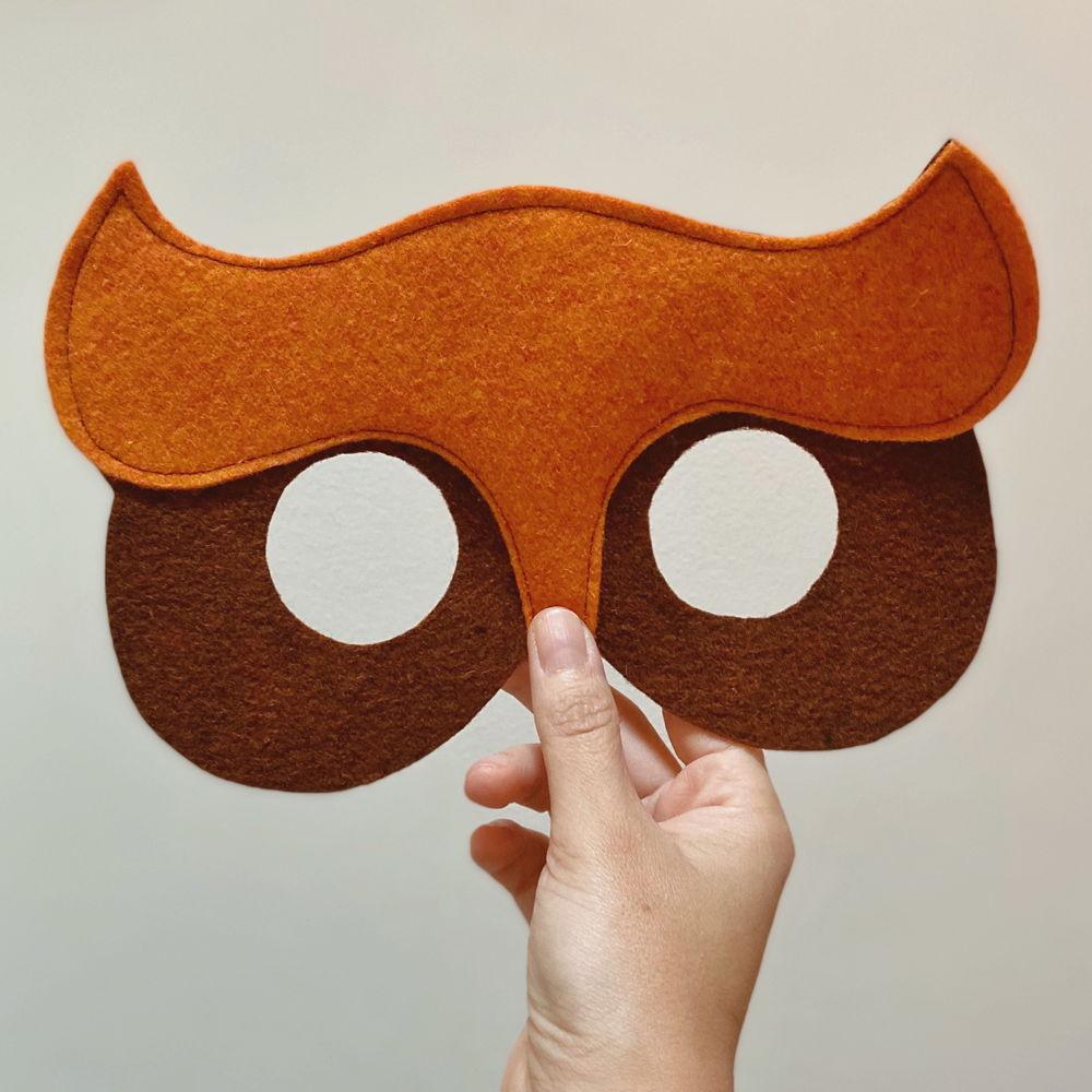 maschera in feltro