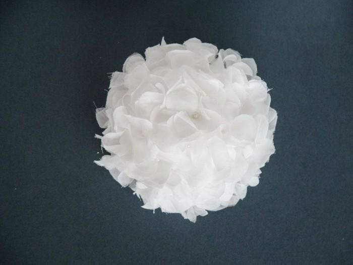 Cotton Silk Voile Hydrangea