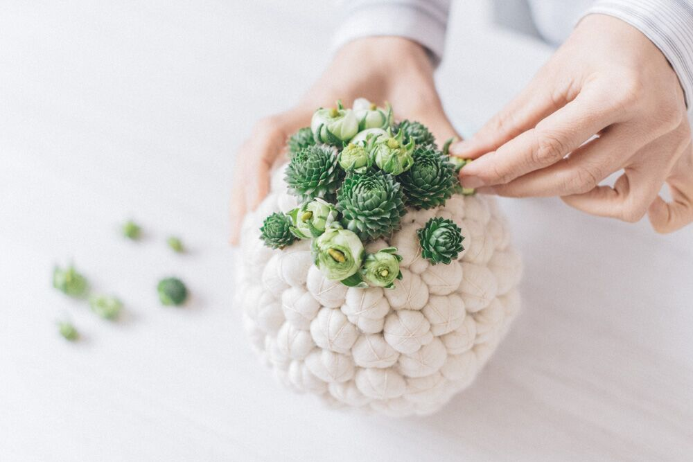 floral design - sphere with succulents