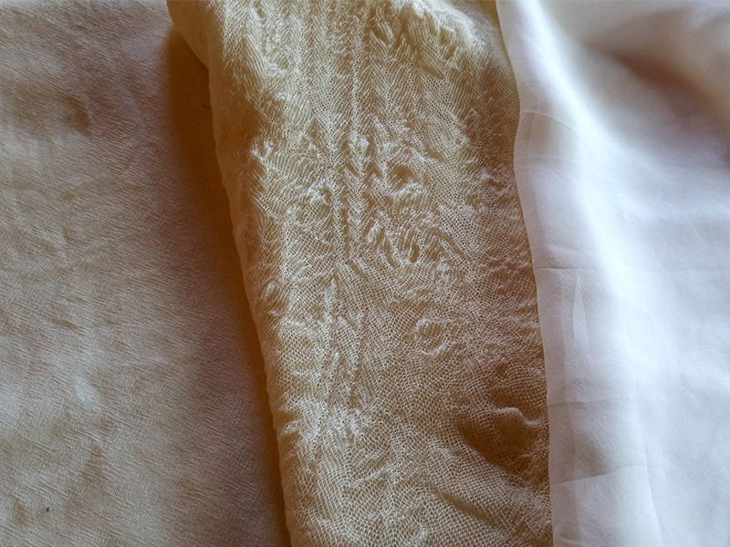 Ecoprinting - etamine, gauze, silk chiffon