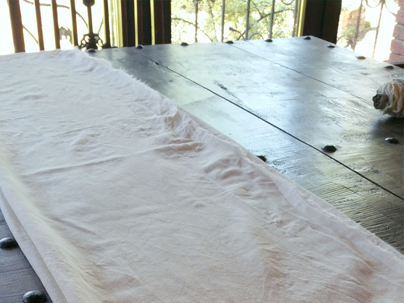 Ecoprinting - wool etamine