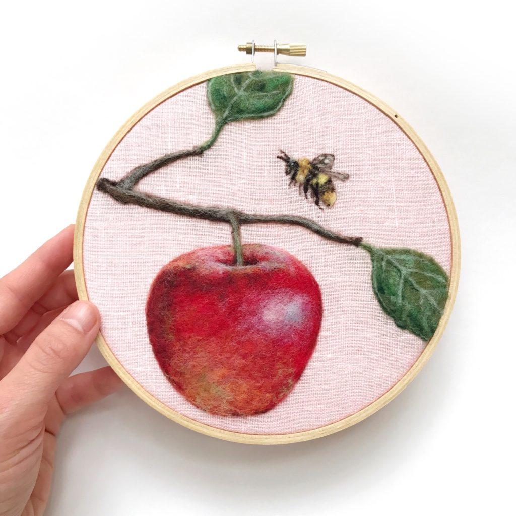 Dani Ives - Apple needle felting
