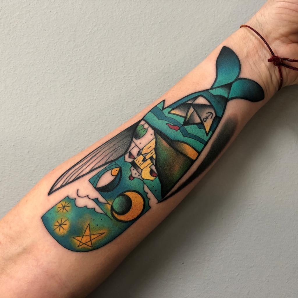 Yle Vinil - tatuaggio balena