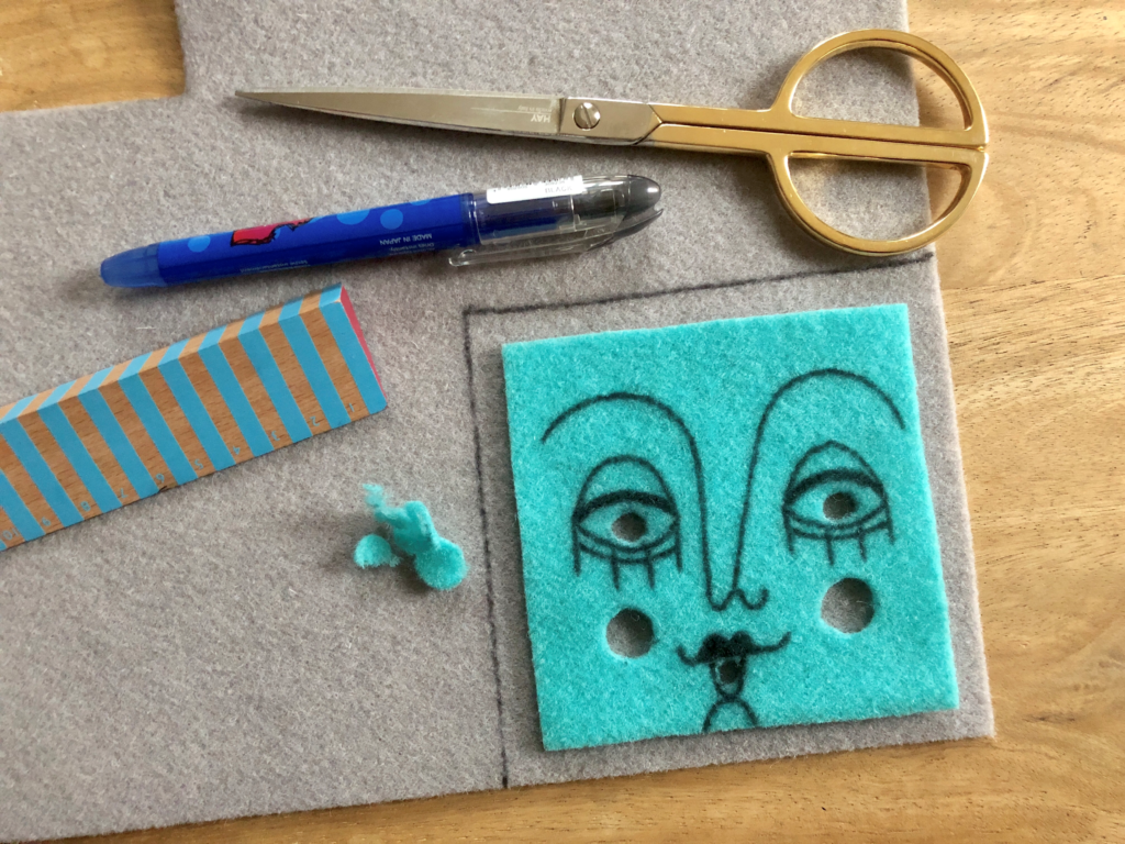 Tutorial thermoformable felt coasters- step 2