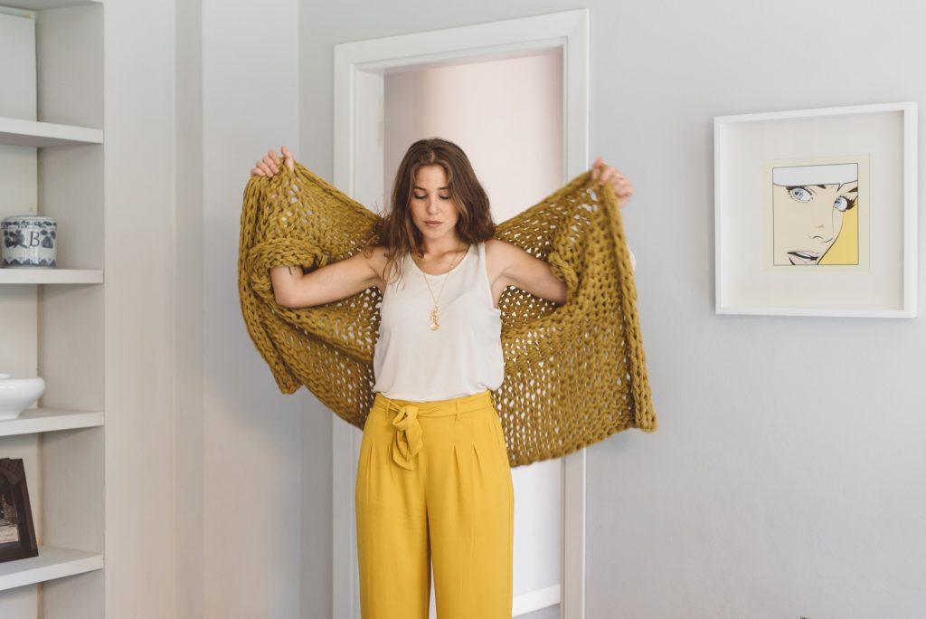 Pattern cardigan oversize