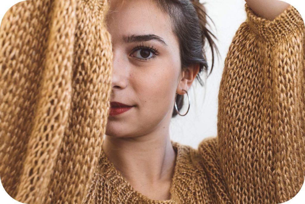 maglione con maniche a palloncino - pattern