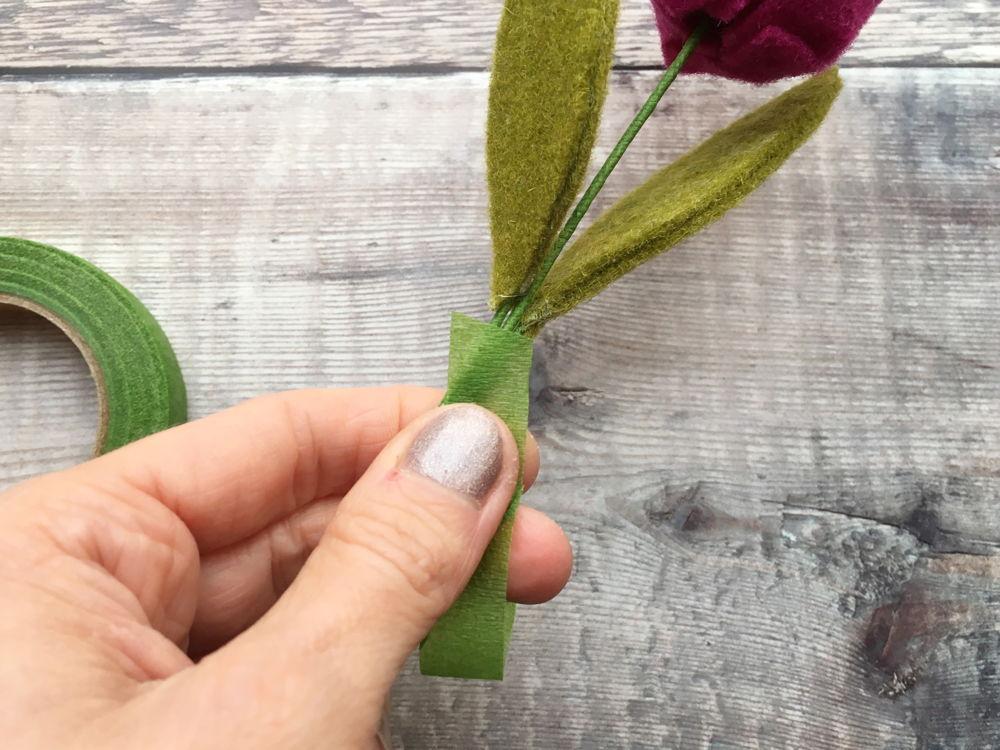 The Handmade Florist - felt tulips