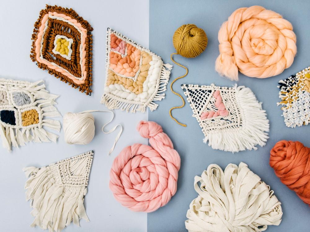 Hello Hydrangea e una collezione di wall hanging in lana