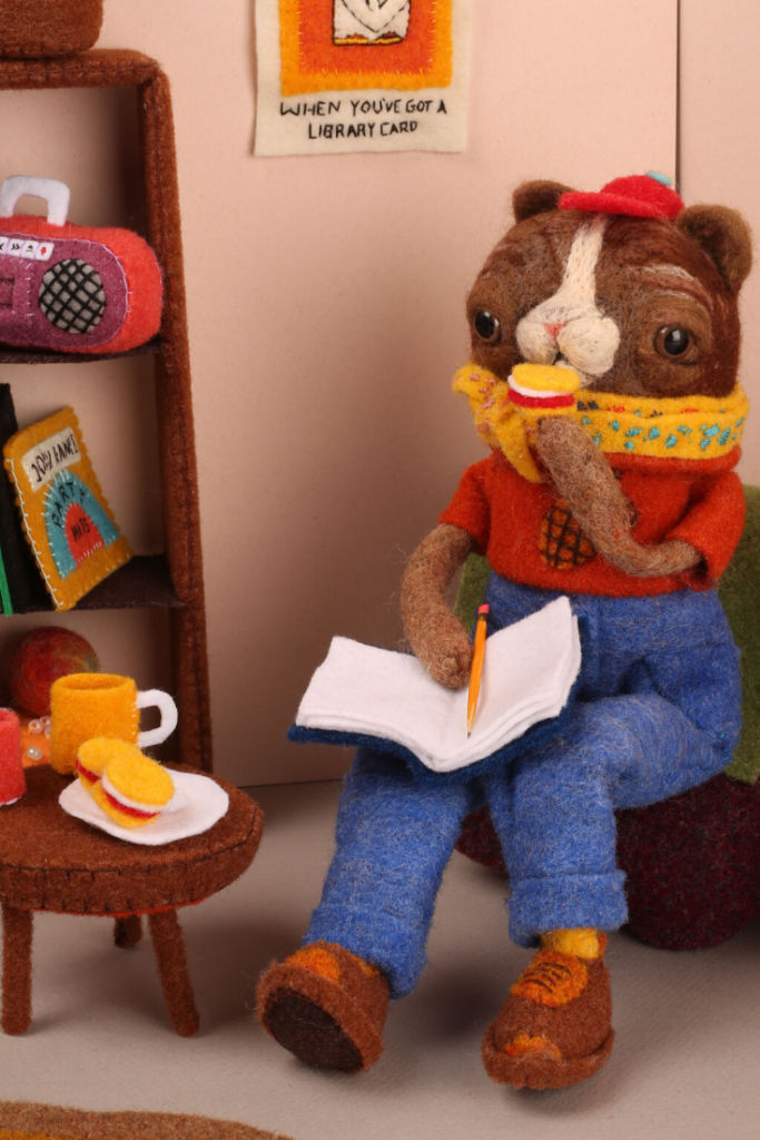 Cat Rabbit turns our felt and our wool into plushies